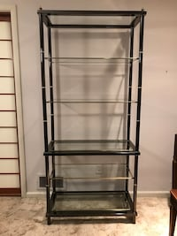 Metal and Glass Shelving Unit / Contemporary Design - $40 Springfield Township, 07081