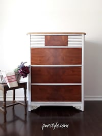 Restyled, SOLID WOOD, TWO TONE TALLBOY – Free Delivery Ottawa