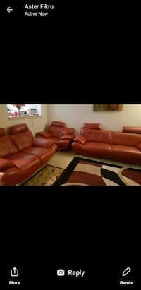 red leather sectional couch screenshot Silver Spring, 20906