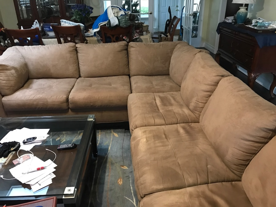 Kathy Ireland Home Wellesley 3 Pc Microfiber Sectional Sofa