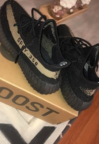 Pair of black adidas yeezy boost 350 v2 on box Annapolis, 21409