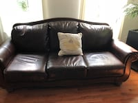 black leather 3-seat sofa Washington, 20009