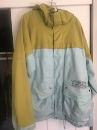 Burton XL snowboard jacket green and blue.  Anacortes, 98221