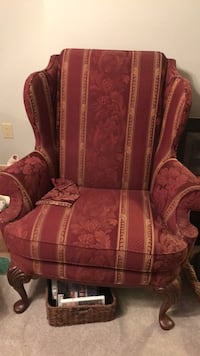 red and brown floral fabric sofa chair Oakton, 22124