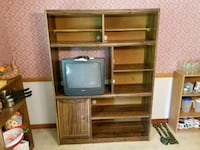 Wood Entertainment Center With TV  Brandon