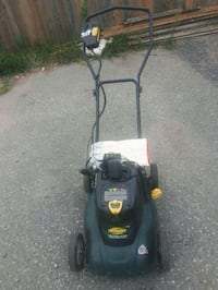 Yardworks lawn mower rechargeable with battery