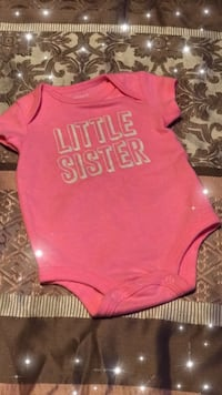 Pink little sister  onesie