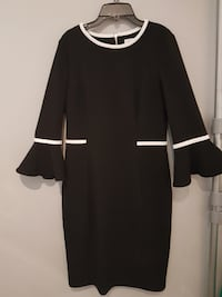 Calvin Klein Black and White Dress London