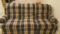 blue, white, and red plaid fabric loveseat Stafford, 22554