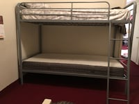 white metal bunk bed with mattress Riverdale Park, 20737