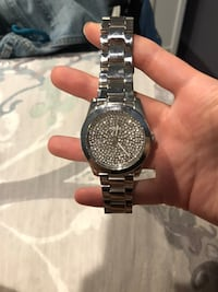 Silver fossil watch null