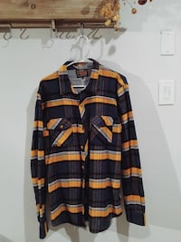Blue and yellow plaid button-up shirt 2273 mi