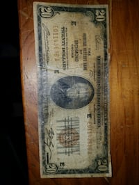 1929 $20. National Currency note 455 mi