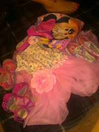 Toddler shoes tutu onesie and Minnie mouse sleeper Louisville, 40218