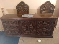 brown wood dresser w/ mirrors & matching armoire Suitland-Silver Hill, 20746