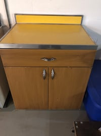 """Youngstown cabinet yellow Formica Nd stainless top 36"""" wide Erie, 16505"""