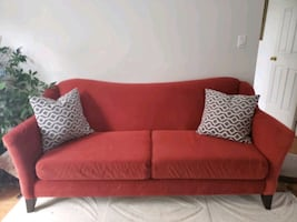 Red fashion couch