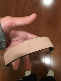 Black and gray louis vuitton leather belt Kitchener, N2P 2T4