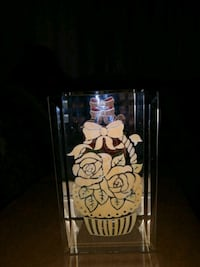Glass two sides small candle holder Holiday