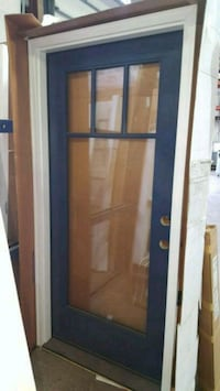 blue wooden framed glass door Olney, 20832