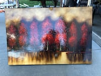painting of trees and body of water Highland, 92346