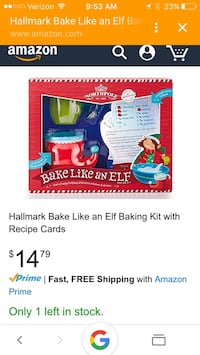 hallmark bake like an elf baking kit with recipe cards Leesburg, 20175