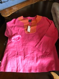 NWT Linen Pink & Orange Kaftan Resort Wear Las Vegas, 89109
