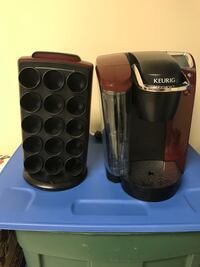 Burgundy Keurig maker with stand  Gaithersburg, 20879