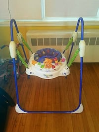 baby's white and blue jumperoo Boston, 02126