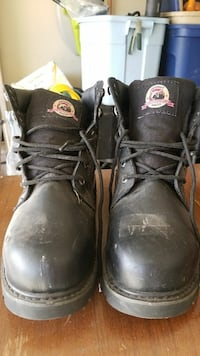 pair of black Brahma steel-toe work boots San Angelo, 76904