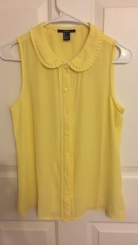 yellow scoop-neck sleeveless shirt Rowland Heights, 91748