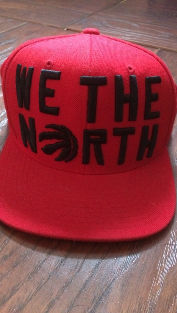 Red we the north toronto raptors fitted cap