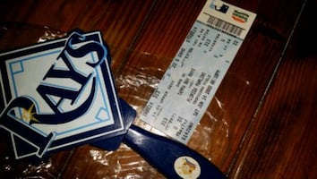 Tampa Bay Rays / Marlins 2008 ticket & noisemaker.