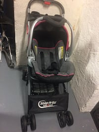 Baby's black and red jogging stroller Kensington, 20895
