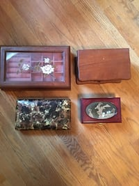 Jewellery boxes assorted.   All for $15