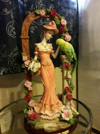 "1950 ""LADY IN ROSE GARDEN"" HAND CRAFTED BY J & J VICTORIA COLLECTION L Anaheim, 92804"