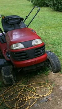 Riding Mower with PLOW lawn tractor.