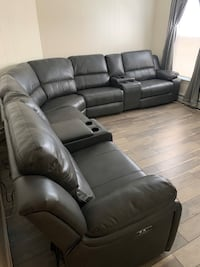 Take this power reclining sectional home $40 down no credit check financing  Massapequa, 11758