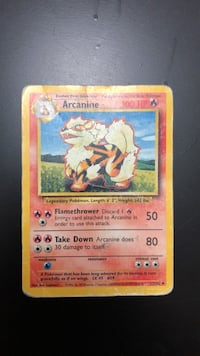Arcanine Base Set 23/102 Pokémon Card  Oakville, L6H 5N3