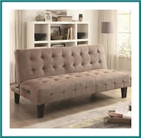 Sofa Beds and Futons Adjustable Sofa Bed with USB and Power Ports Irving