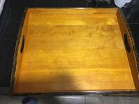 Vintage rustic wooden coffee tray Toronto, M6S