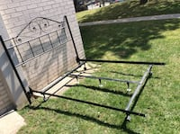 Metal frame adjustable for double and queen with headboard  Toronto, M2R 2A3