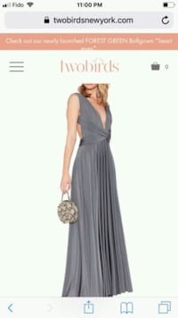 Beautiful gray long dress Kitchener, N2B 2J5
