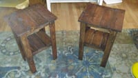 Pair of rustic side tables Springfield, 97478