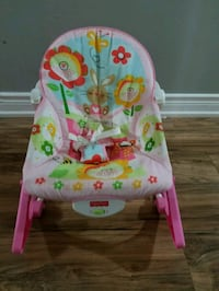 baby's pink and white bouncer Ajax