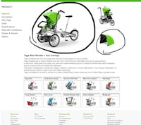 Taga bike stroller Richmond Hill, L4S