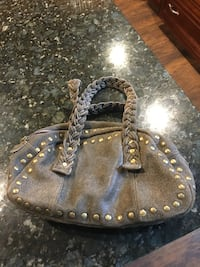 Green leather hand bag Derby, 06418