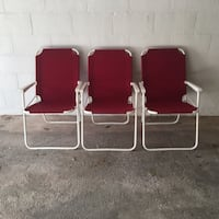 two red and white armchairs Toronto, M9A 4R7