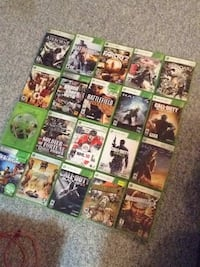 assorted Xbox 360 game case lot 3140 km