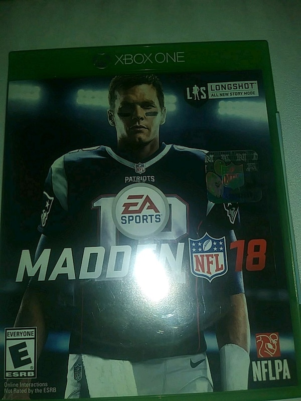 Used Madden NFL 18 Xbox One game case for sale in San Jose - letgo 77c0d9c707f